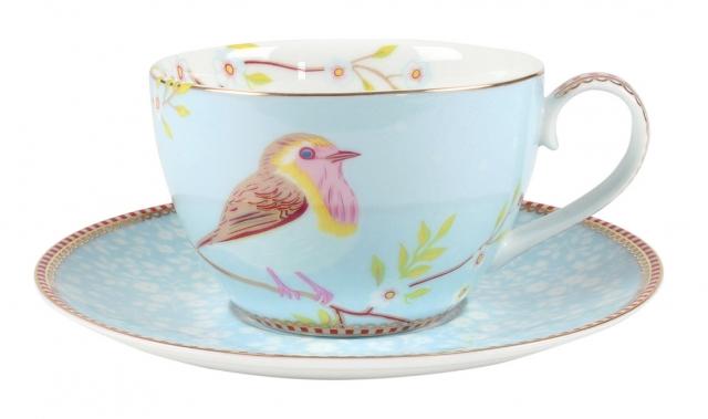 Pip Studio Early Bird Blue Tasse & Untertasse