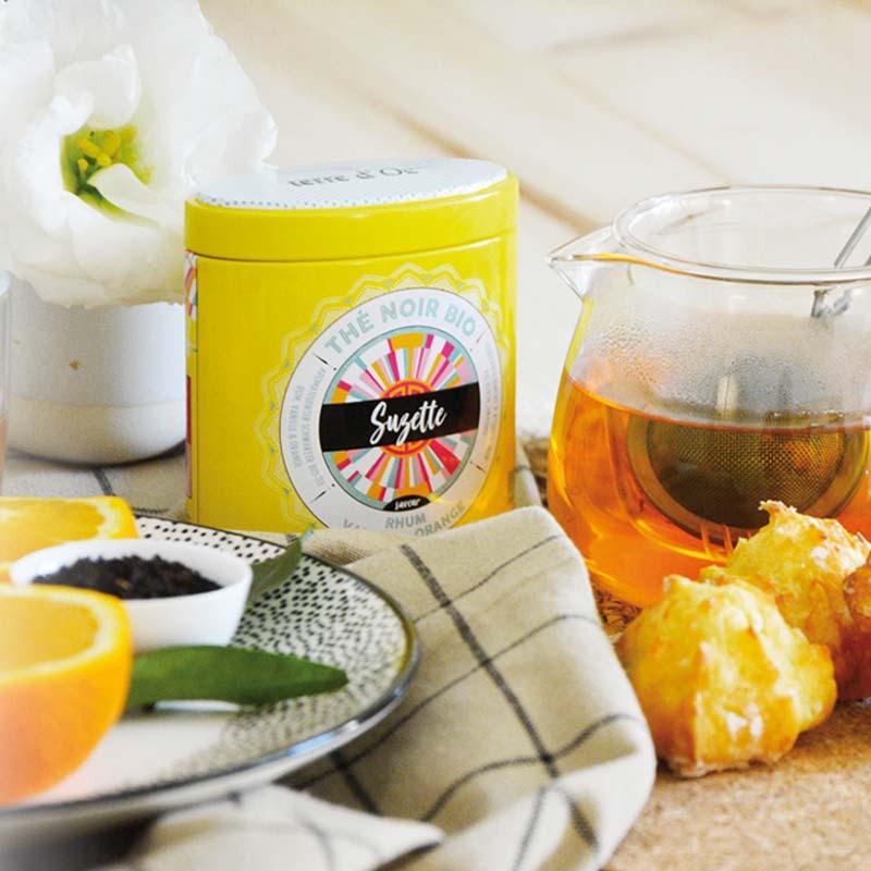 """Schwarzer Tee """"Suzette"""" Rum, Vanille & Orange - Bio"""