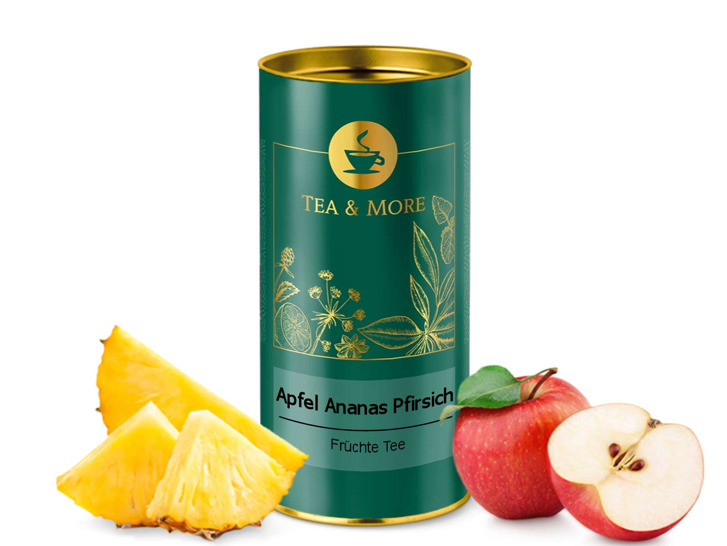 Apfel, Ananas & Pfirsich