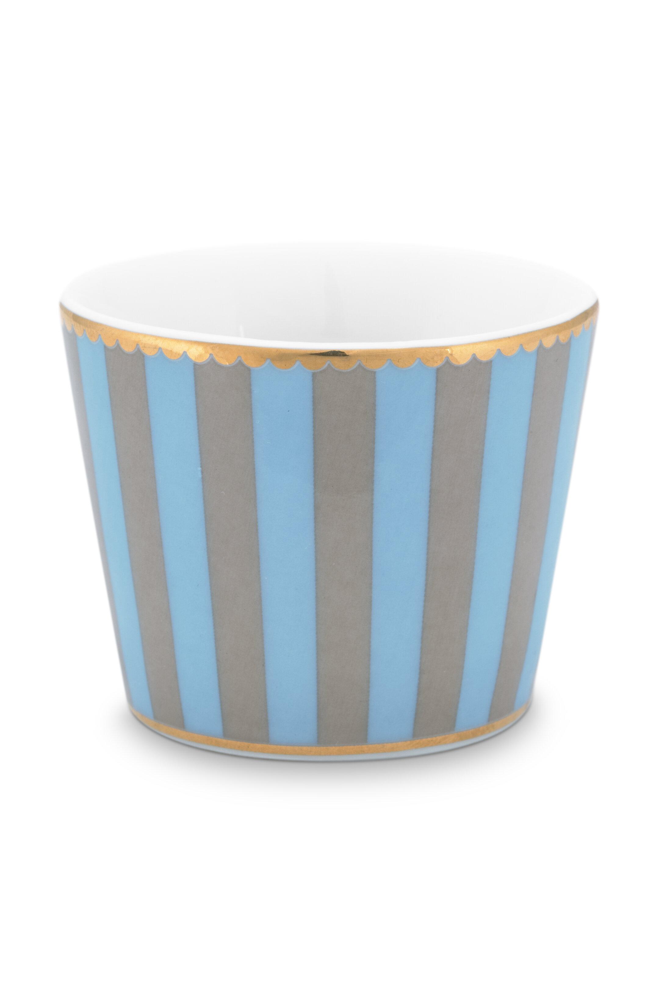 Pip Studio Love Birds Eierbecher Stripes Blue-Khaki