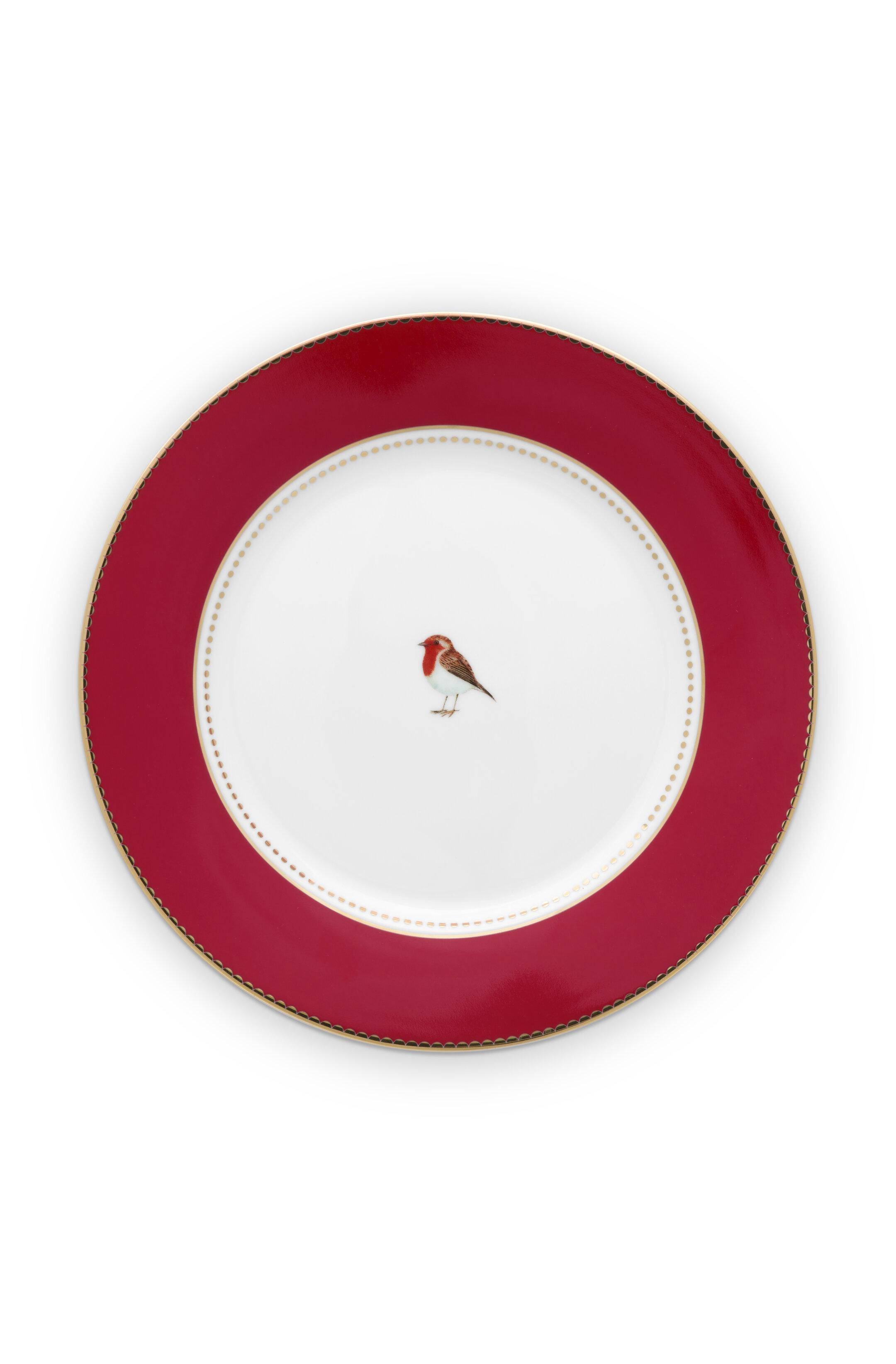 Pip Studio Love Birds Teller Red (21cm)