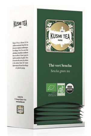Grüner Tee Sencha - Bio (25 Teebeutel, einzeln verpackt)