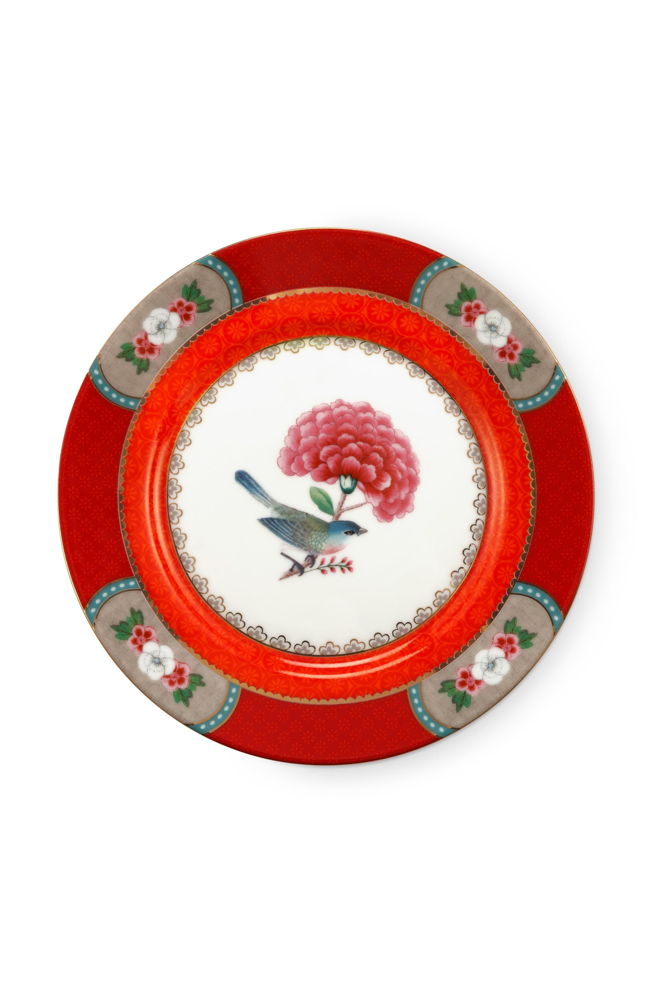 Pip Studio Blushing Birds Red Teller (17 cm)