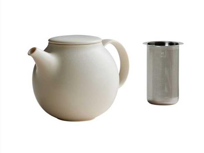 """Teekanne """"Pebble"""" von Kinto weiß (0,5 l)"""