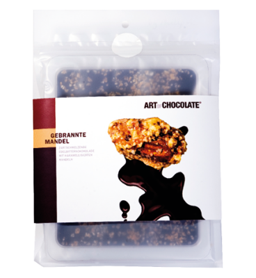Gebrannte Mandel Edelbitter 120g Tafel - Art of Chocolate