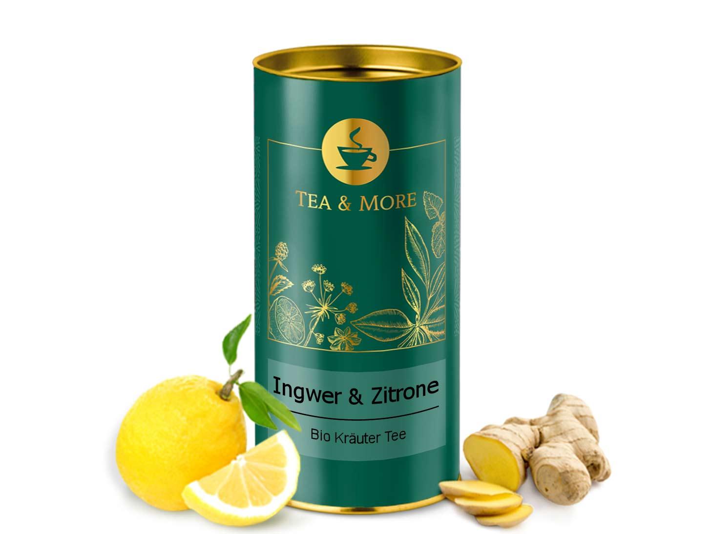 Ingwertee mit Zitrone (Bio)