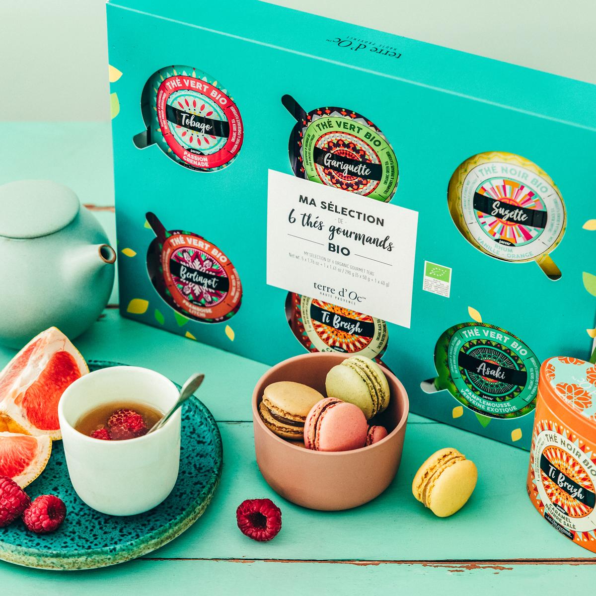 """""""Gourmet-Tee"""" Geschenkbox mit 6 Sorten - Bio"""