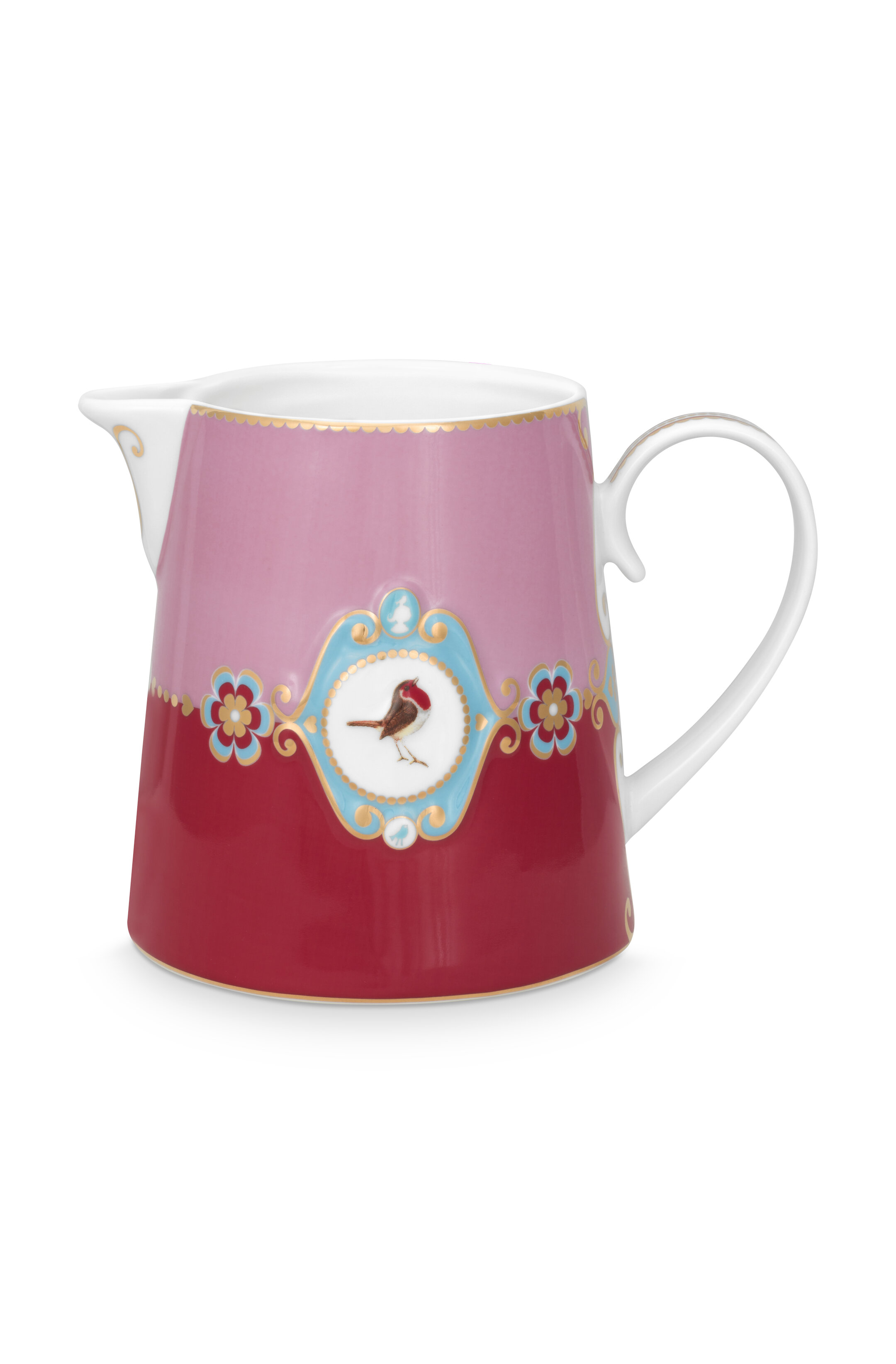 Pip Studio Love Birds Kanne Groß Medaillon Red-Pink