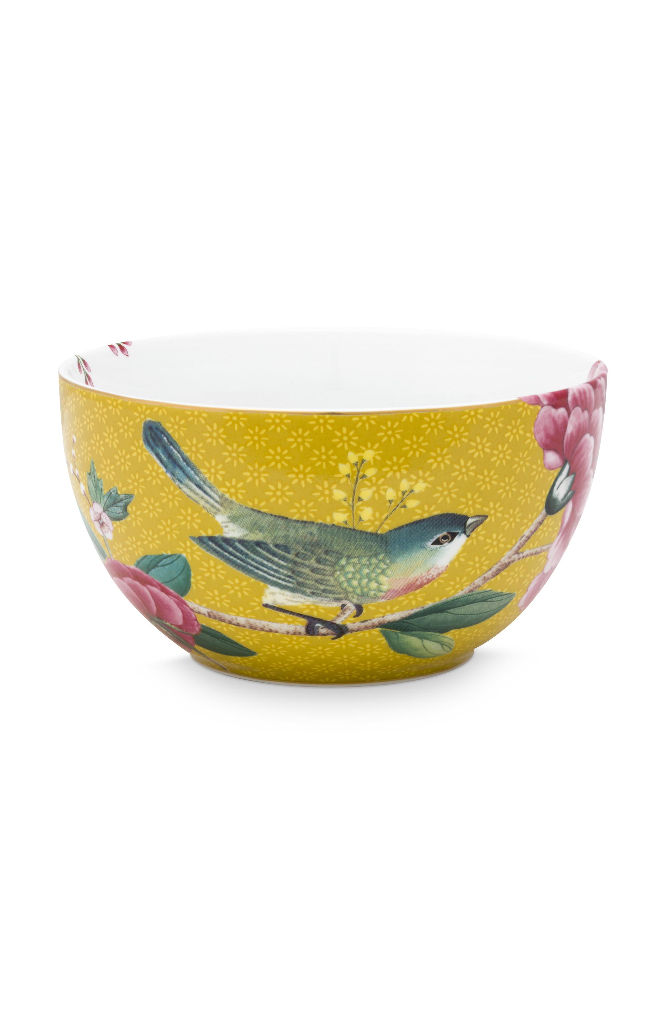 Pip Studio Blushing Birds Yellow Schale (12cm)
