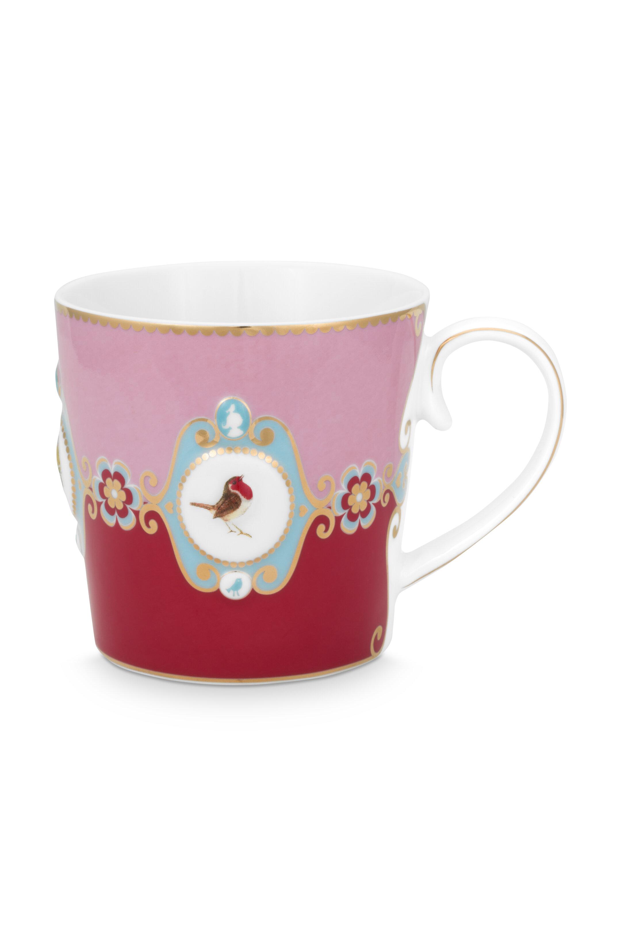 Pip Studio Love Birds Tasse Groß Medaillon Red-Pink