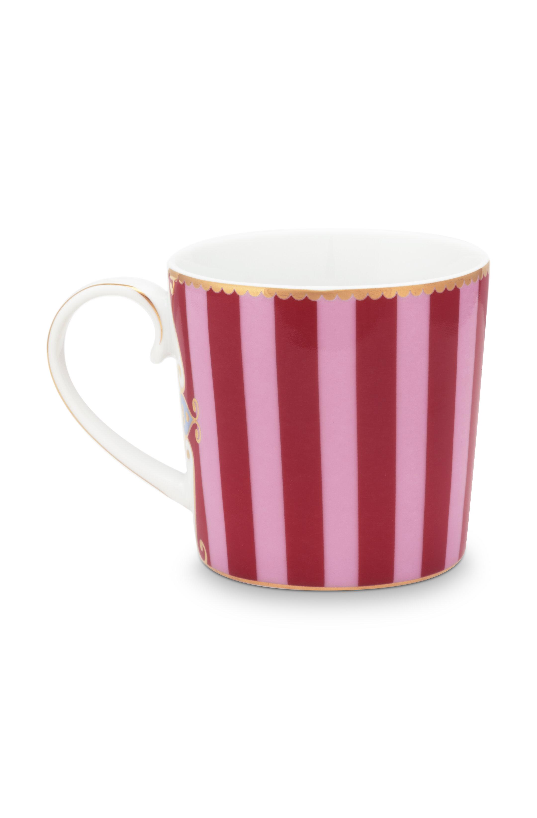 Pip Studio Love Birds Tasse Klein Stripes Red-Pink