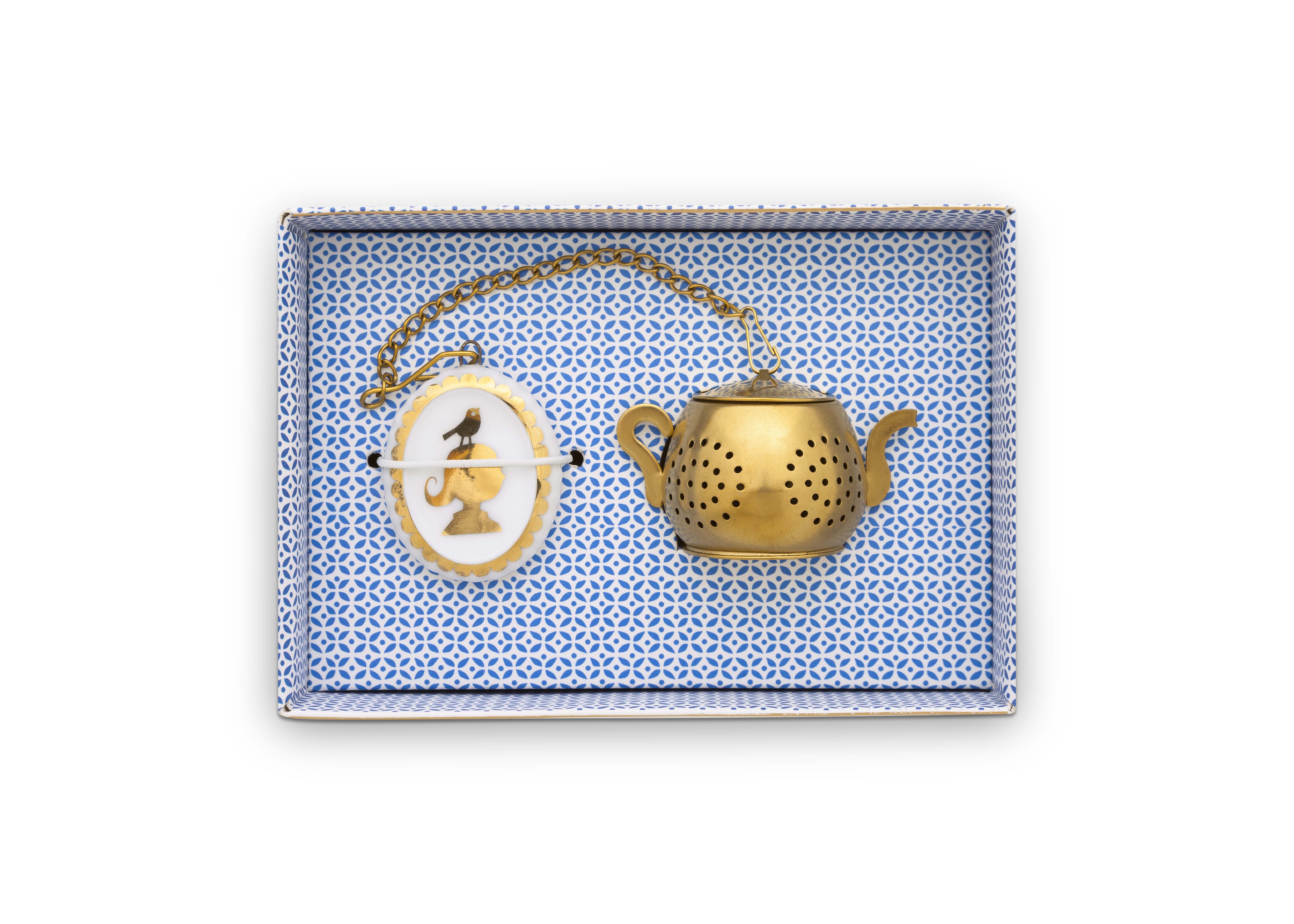 Pip Studio Royal White Tee-Ei mit Medaillon