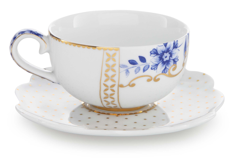 Pip Studio Royal White Espresso Tasse & Untertasse