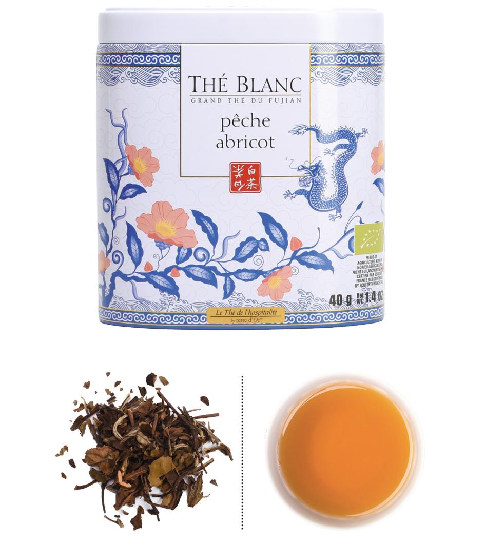 Weißer Tee Aprikose & Pfirsich - Bio