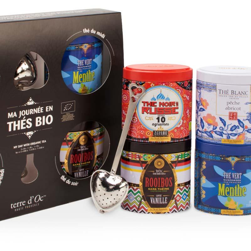 """""""Mein Tag mit Bio-Tees"""" Geschenkbox mit 4 Sorten - Bio"""