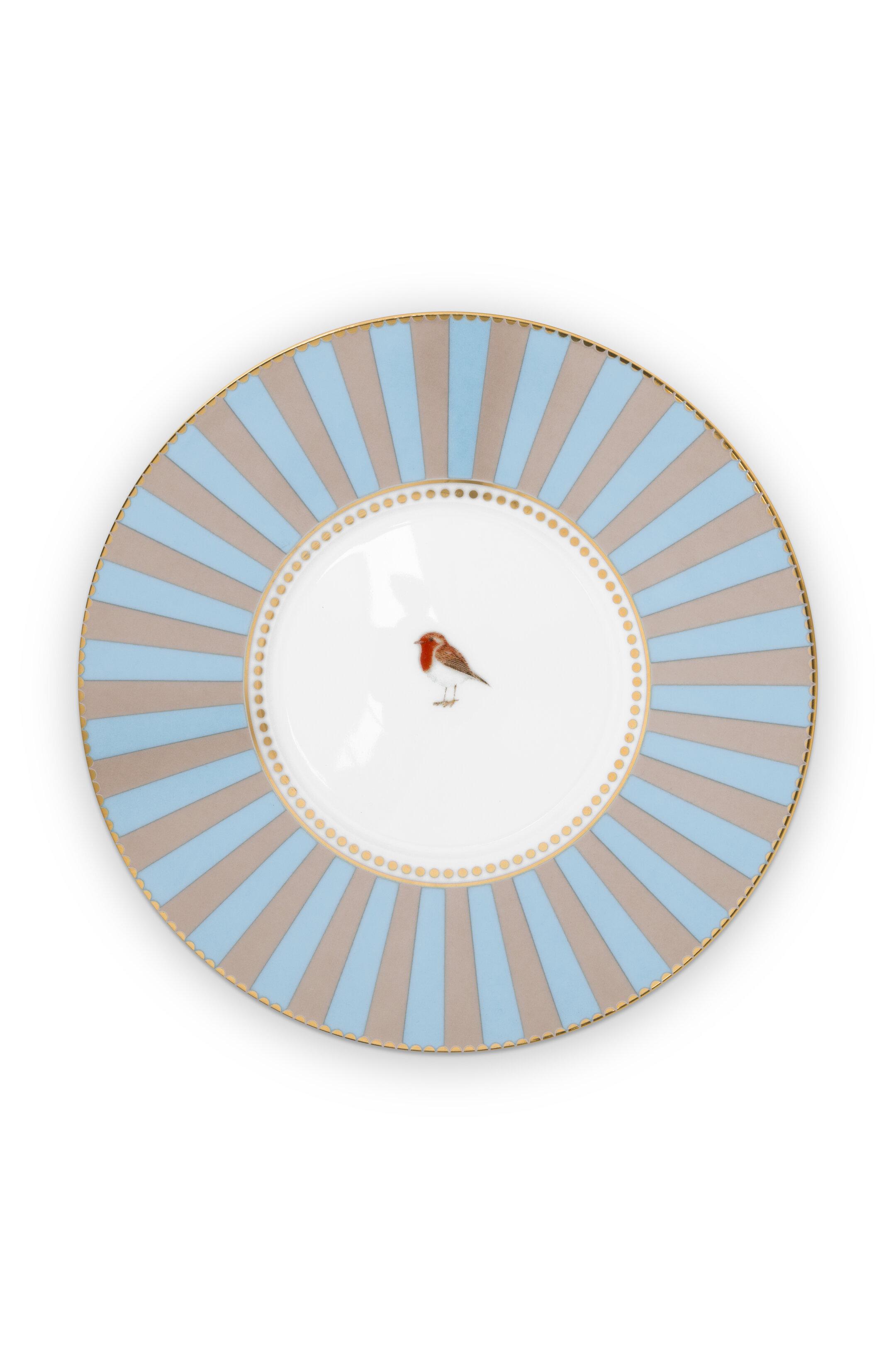 Pip Studio Love Birds Tasse & Untertasse Medaillon Blau-Khaki
