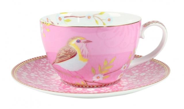 Pip Studio Early Bird Pink Tasse & Untertasse
