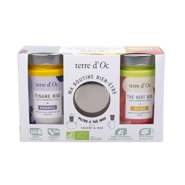 Geschenkset 1 DETOX Tee + SLEEP WELL Kräutertee + Filter für Tasse