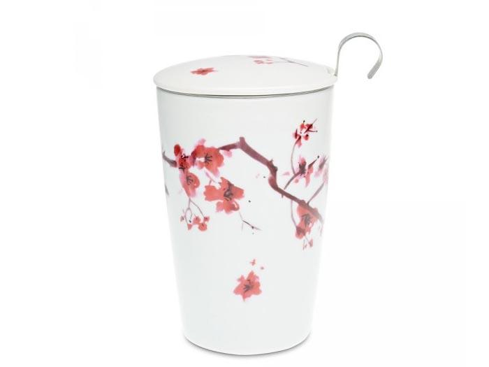 Deckeltasse Kirschblüten