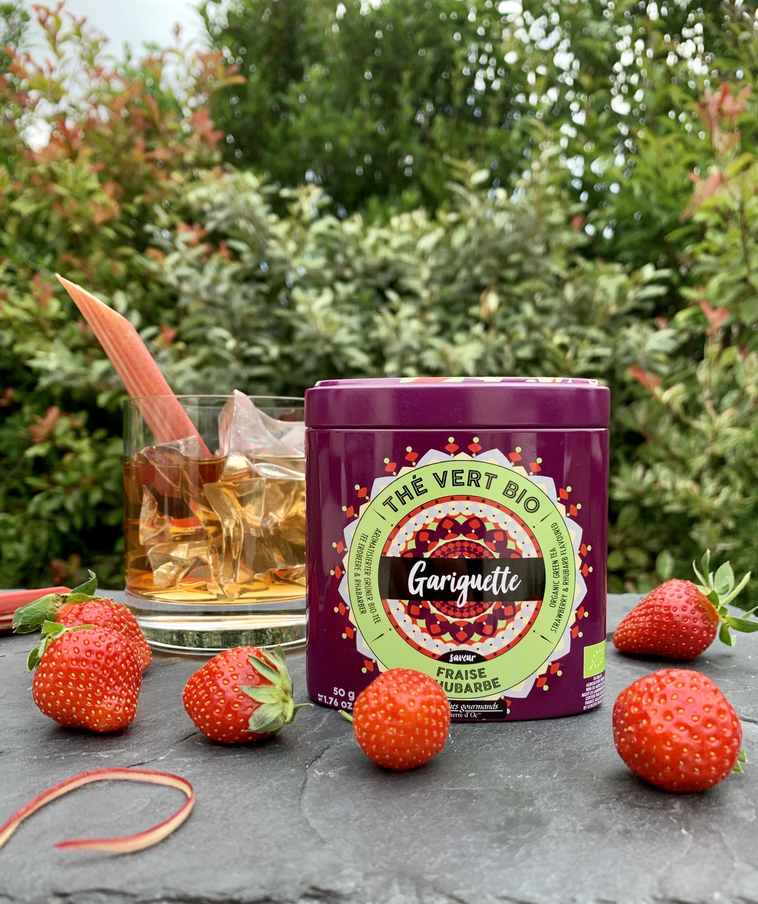 """Grüner Tee """"Gariguette"""" Erdbeere & Rhabarber - Bio"""
