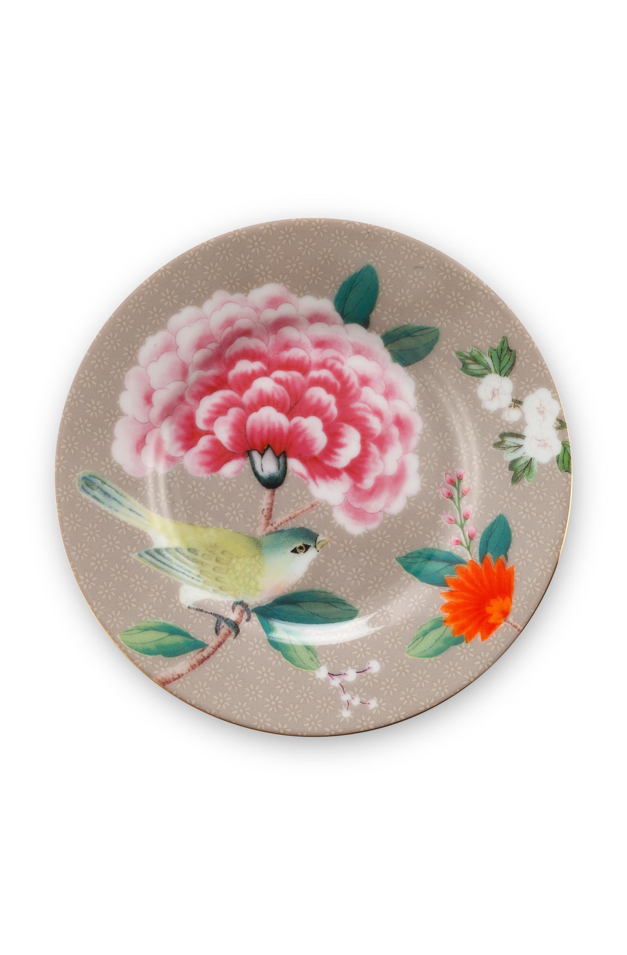 Pip Studio Blushing Birds Khaki Teller (12 cm)