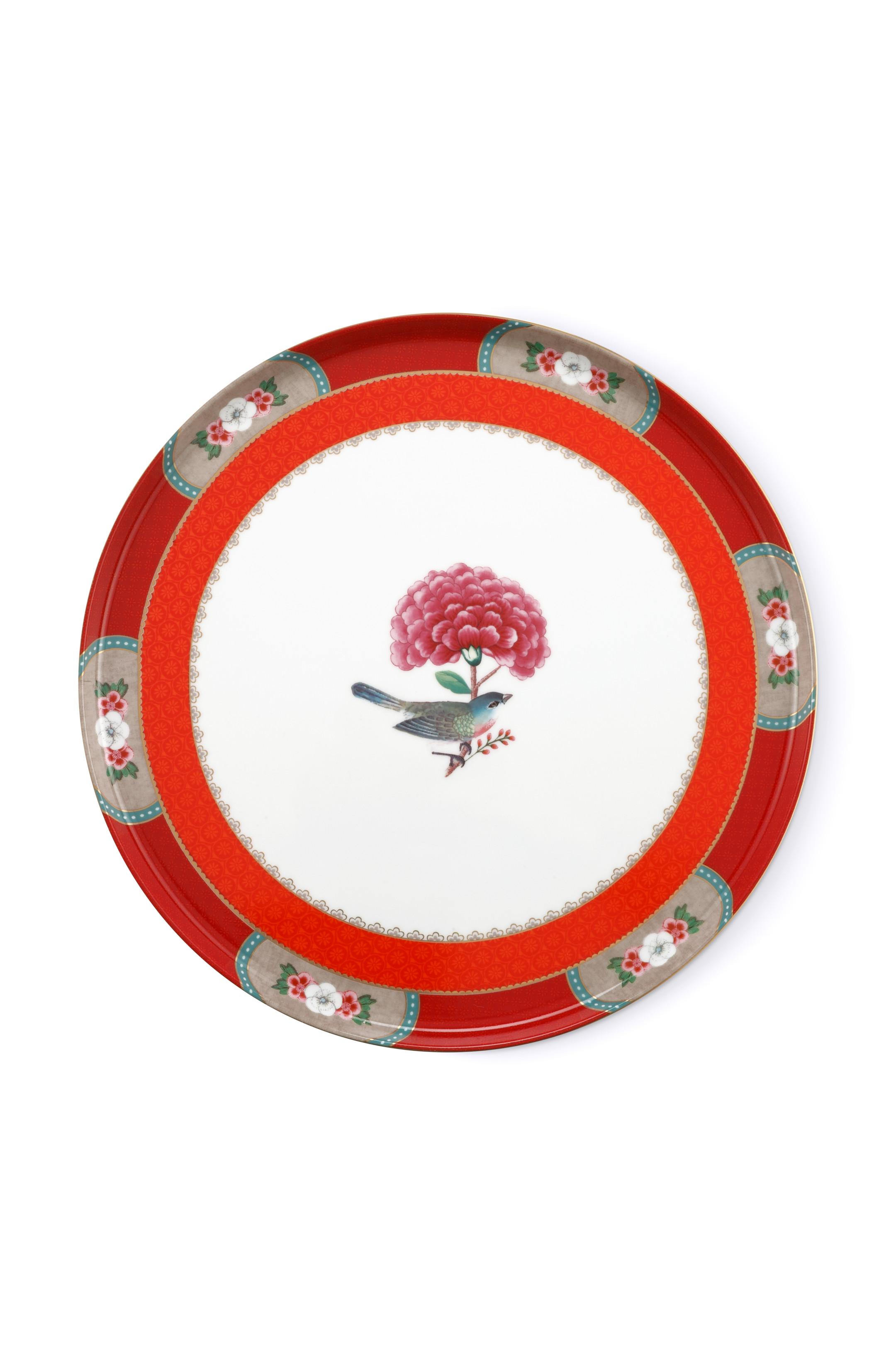 Pip Studio Blushing Birds Red Tortenteller