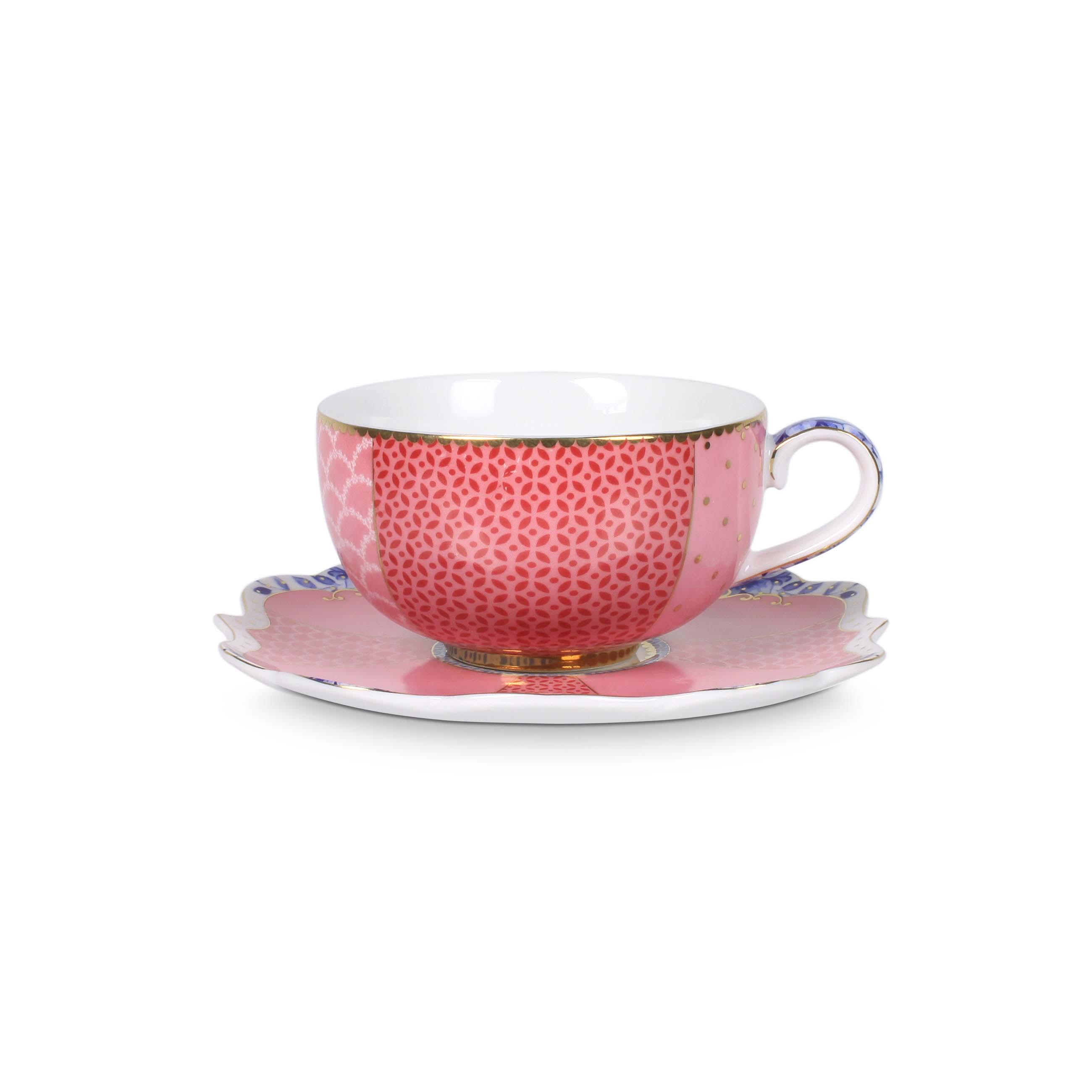 Pip Studio Royal Espresso Tasse & Untertasse Pink
