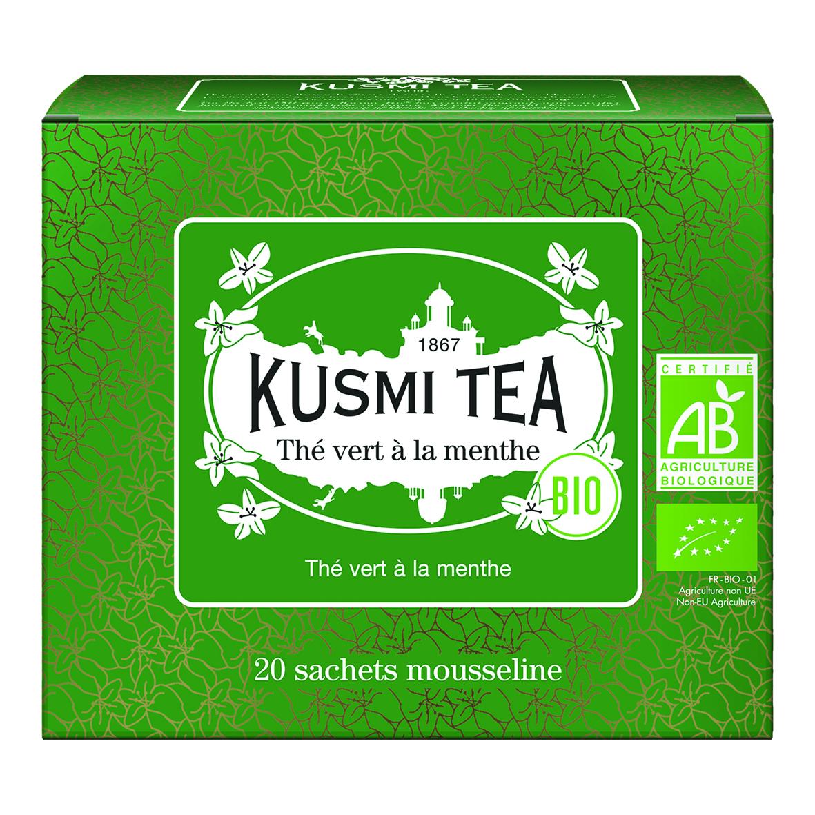 Green Tea with Mint - Organic (20 tea bags)