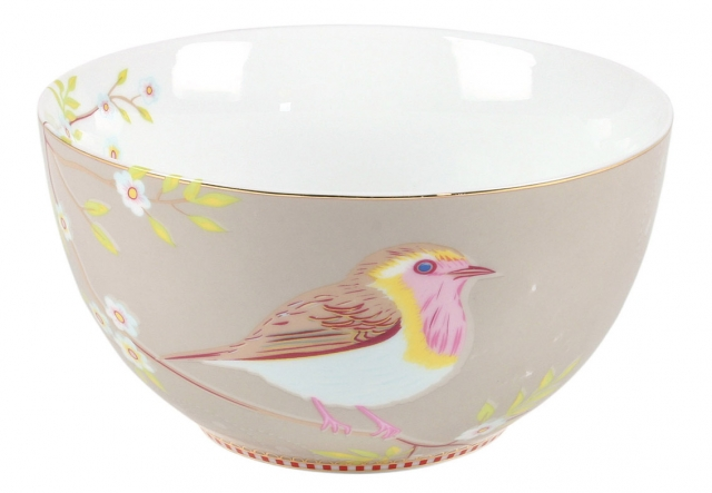Pip Studio Early Bird Khaki Schale (15cm)