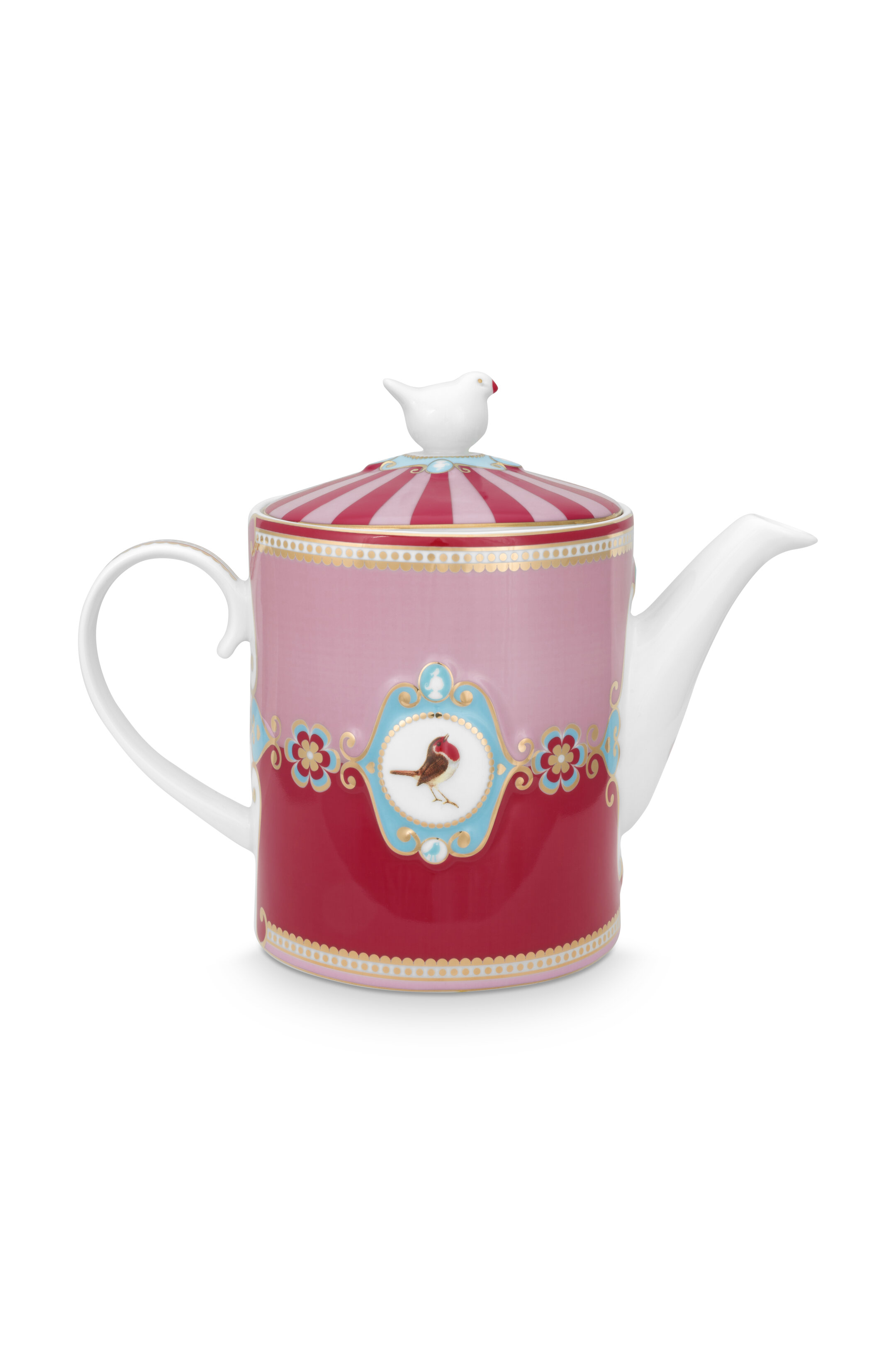 Pip Studio Love Birds Teekanne Medaillon Red-Pink