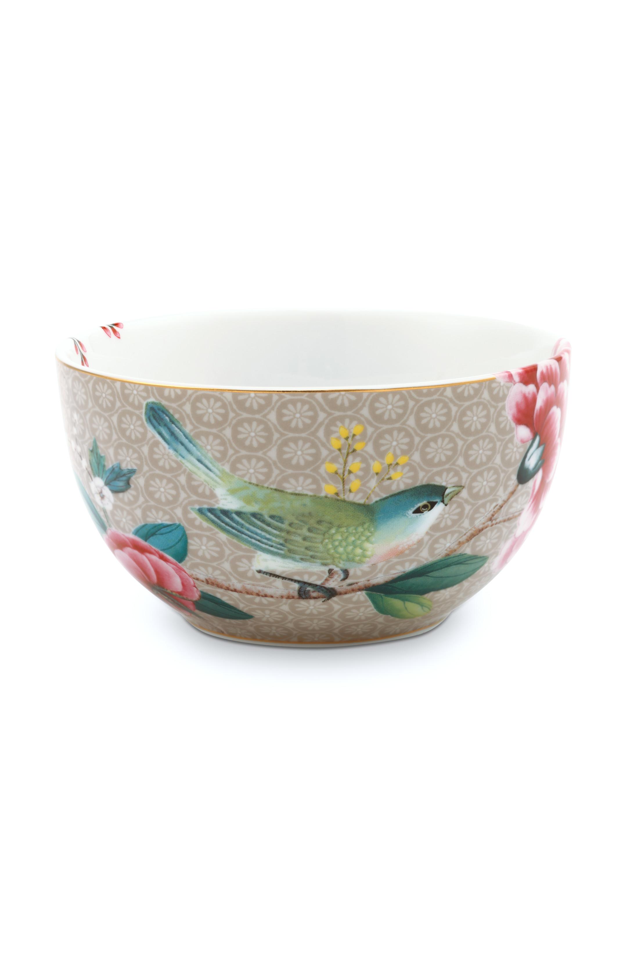 Pip Studio Blushing Birds Khaki Schale (12cm)