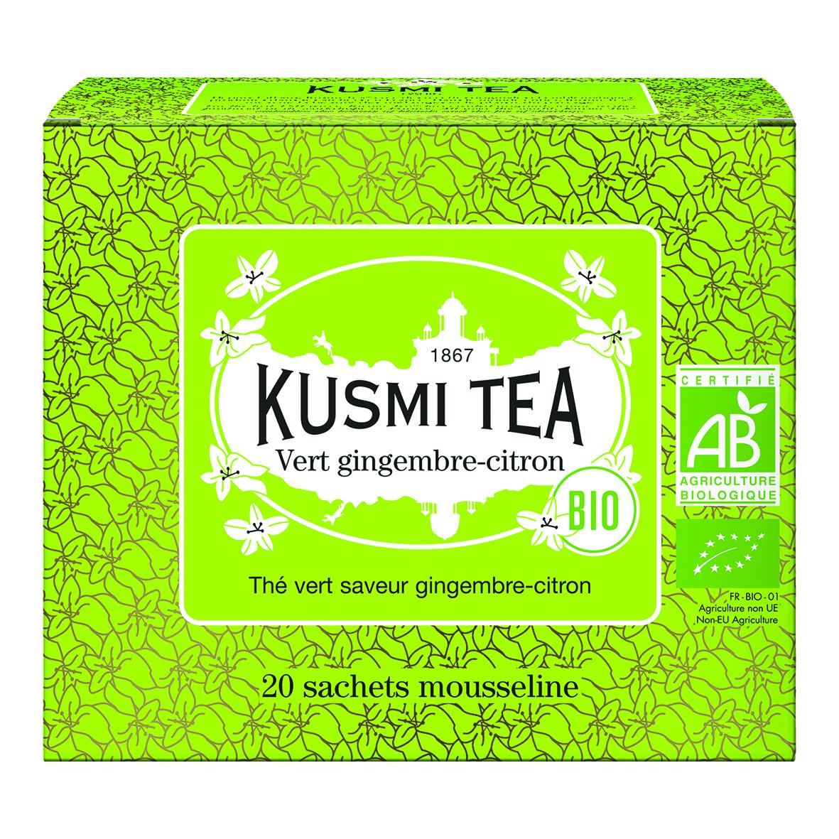 Green Tea Ginger Lemon - Organic (20 tea bags)