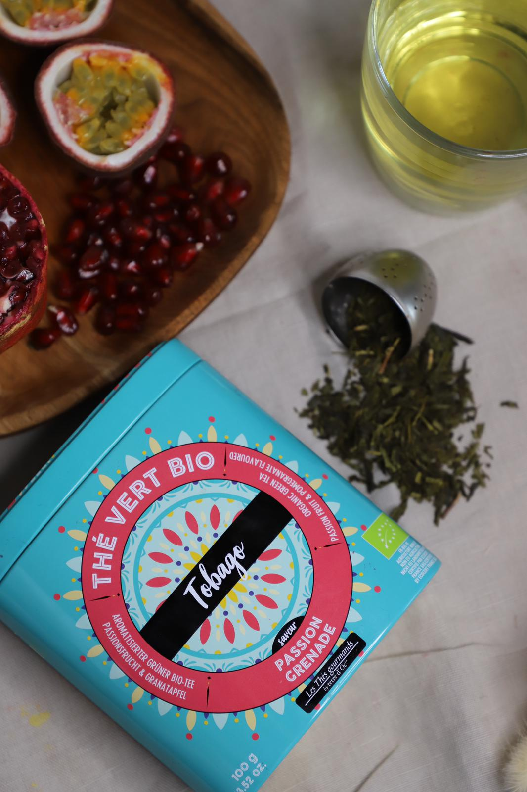 "Grüner Tee ""Tobago"" Passionsfrucht & Granatapfel - Bio"