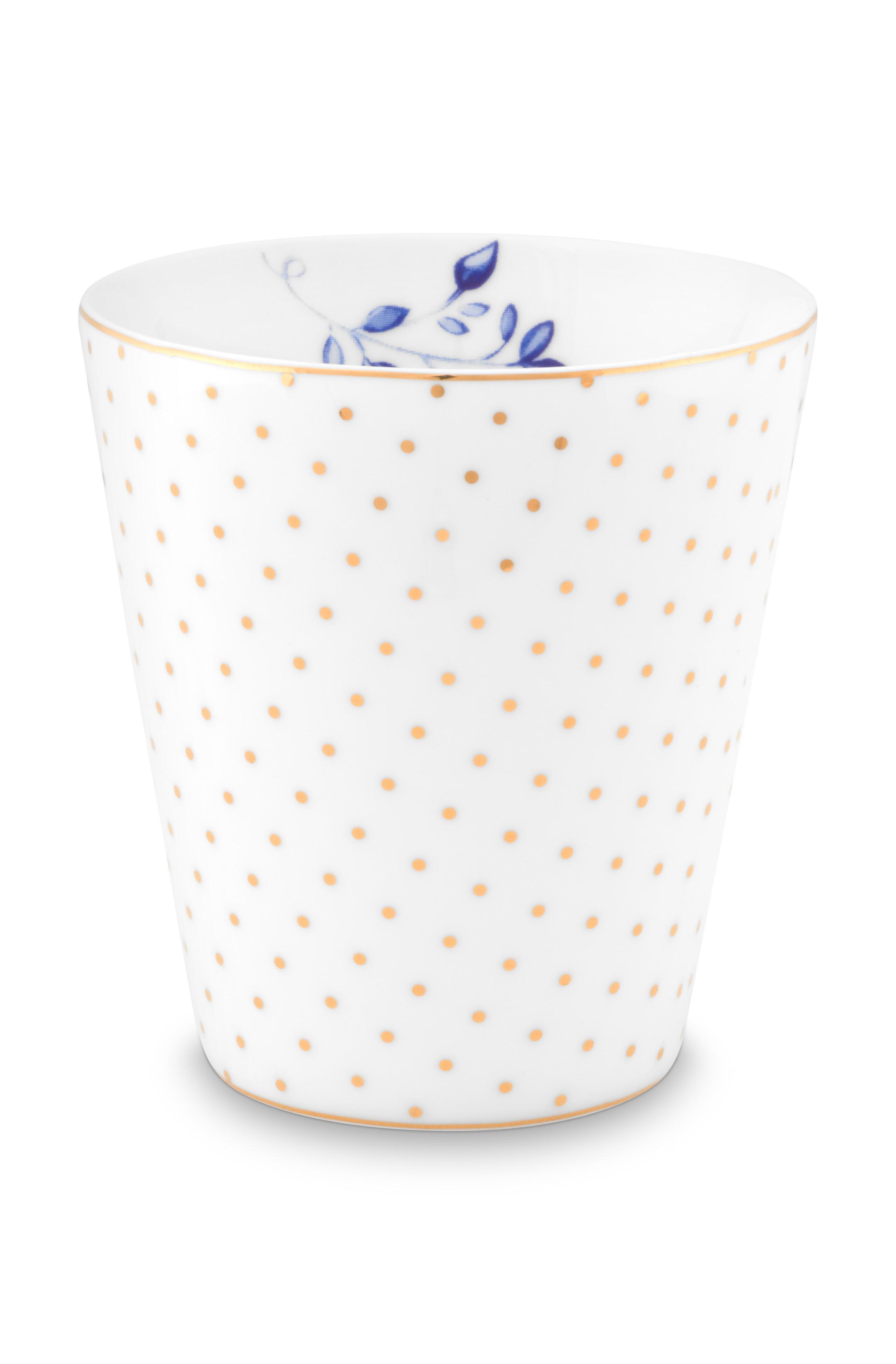 Pip Studio Becher Klein Royal Dots White