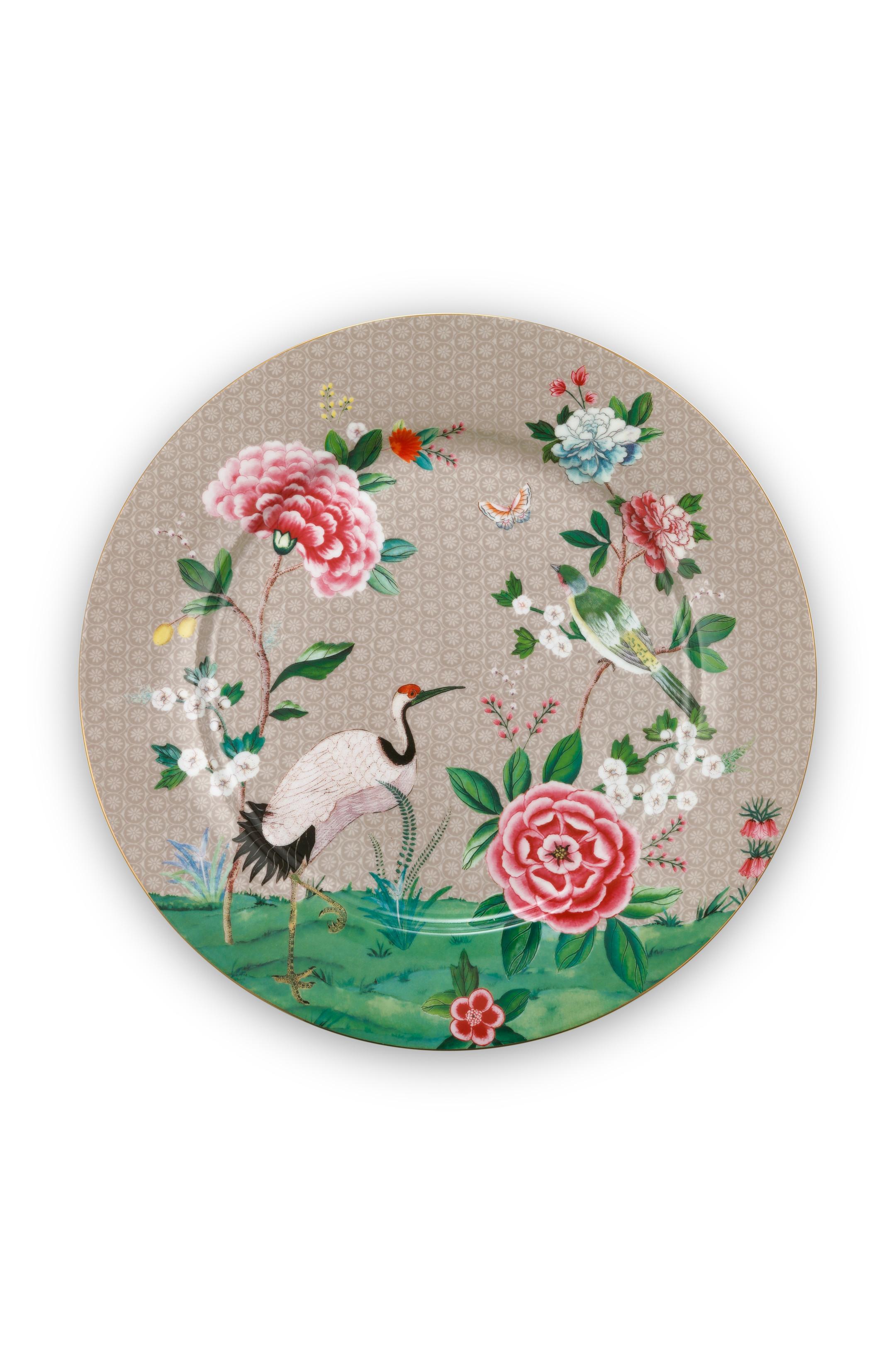 Pip Studio Blushing Birds Khaki Teller (32cm)