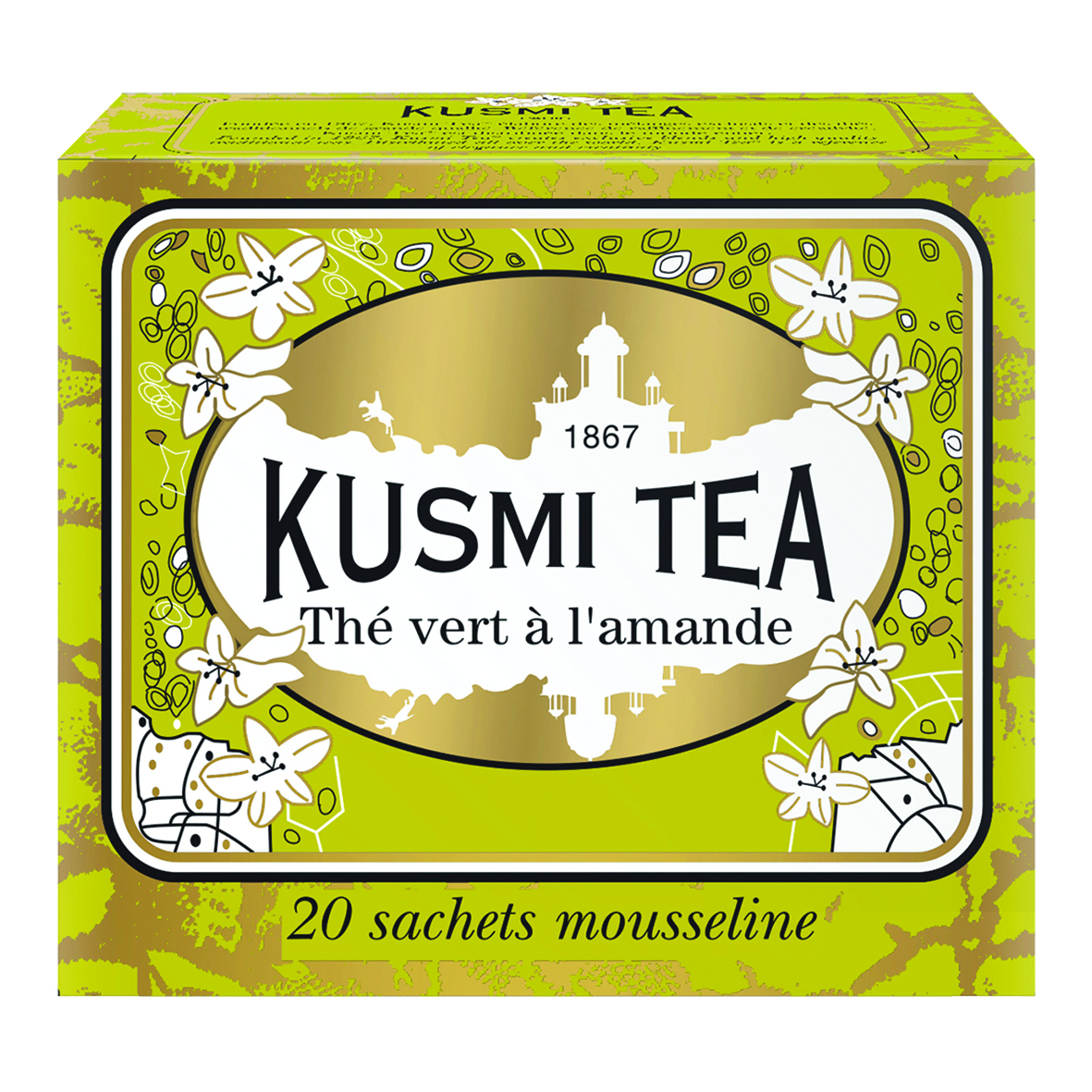 Grüner Tee mit Mandeln (20 Teebeutel)