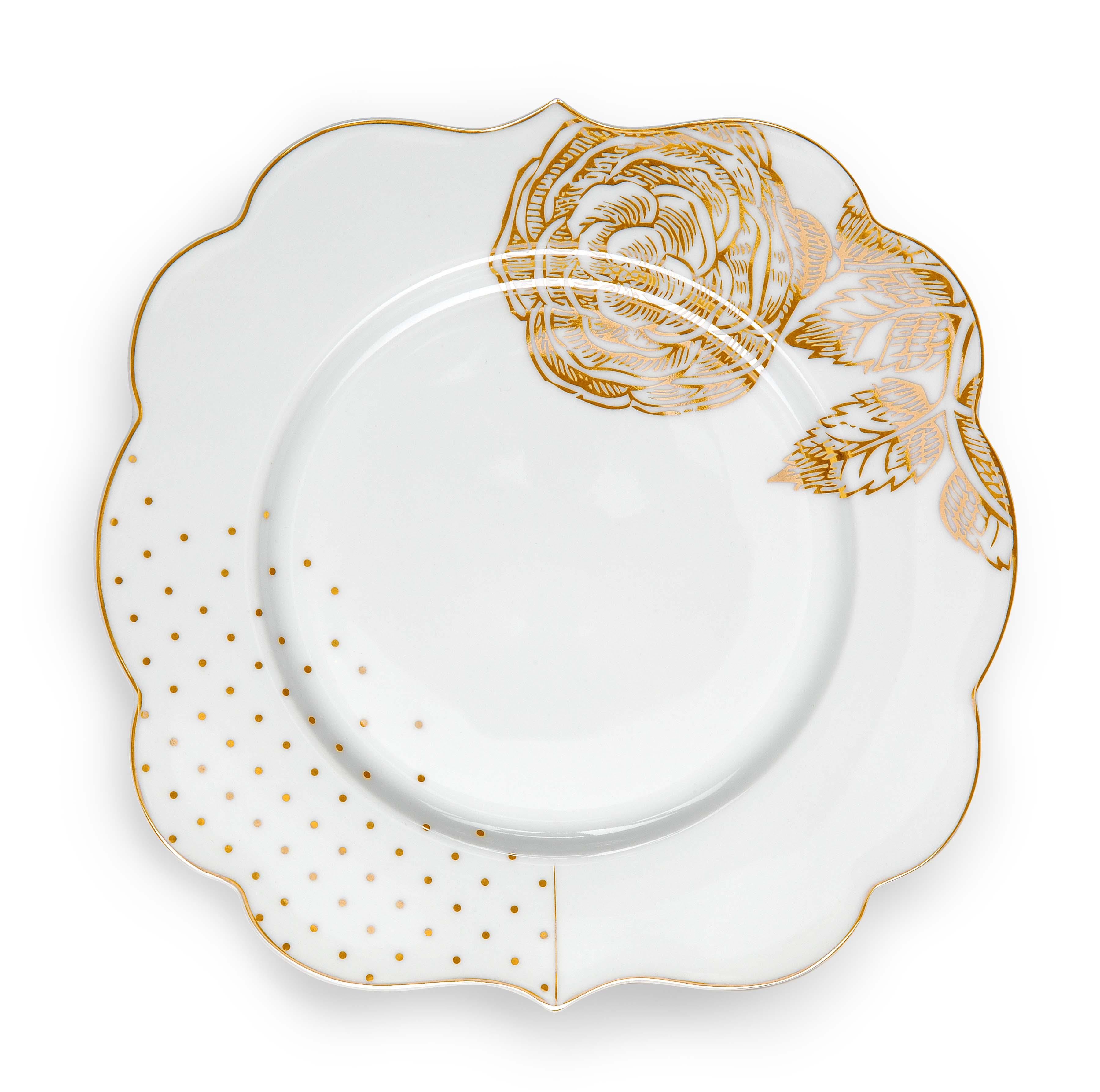 Pip Studio Royal White Teller Gold (17cm)
