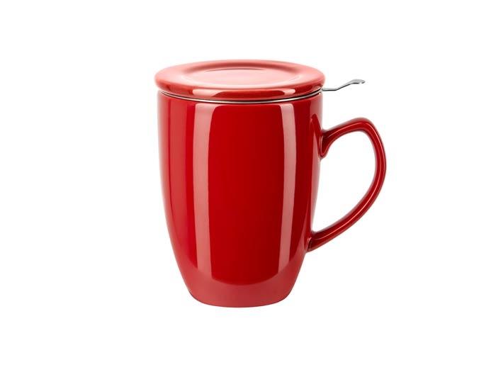 Deckeltasse mit Sieb (rot)