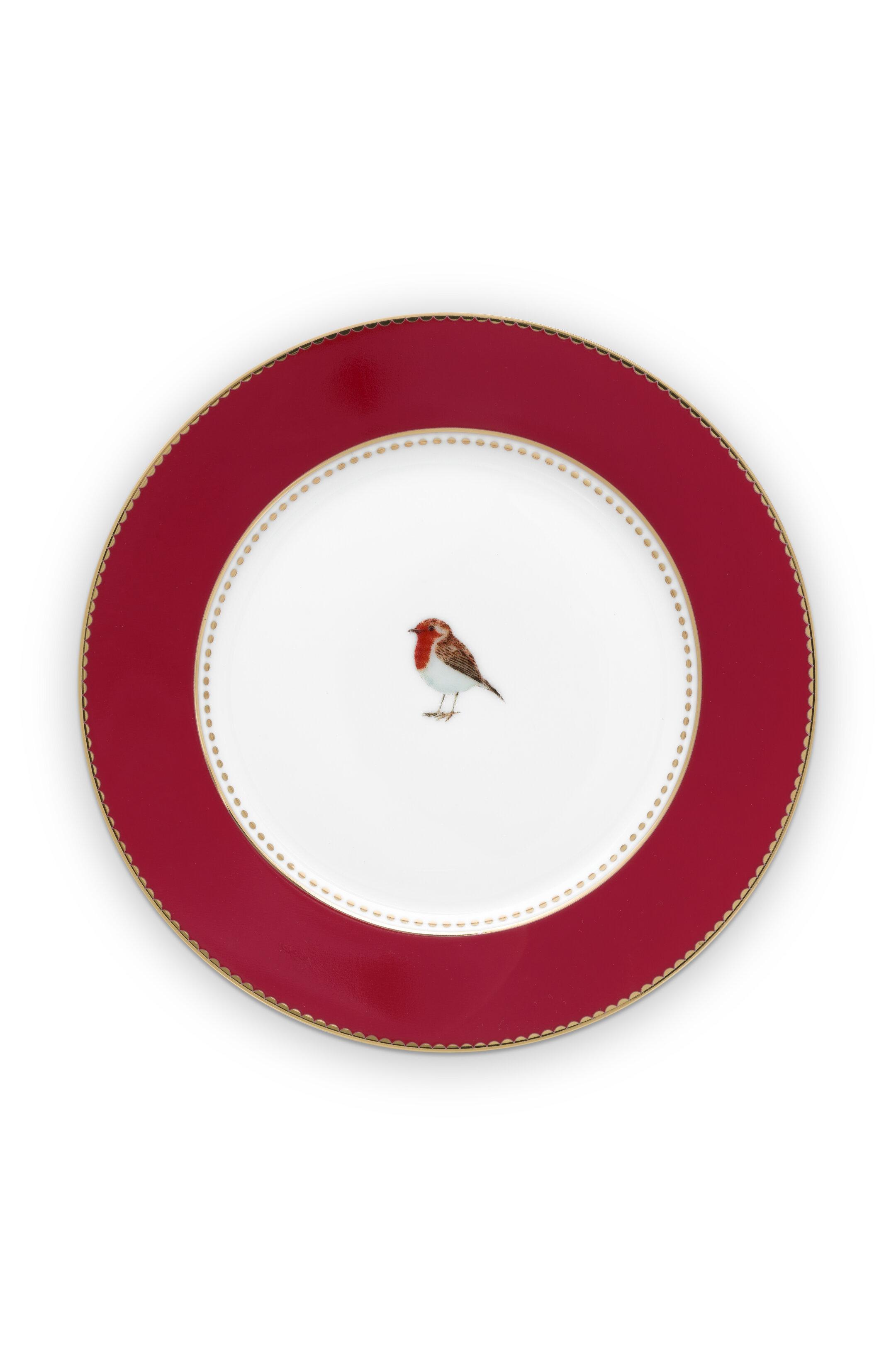 Pip Studio Love Birds Teller Red (17cm)