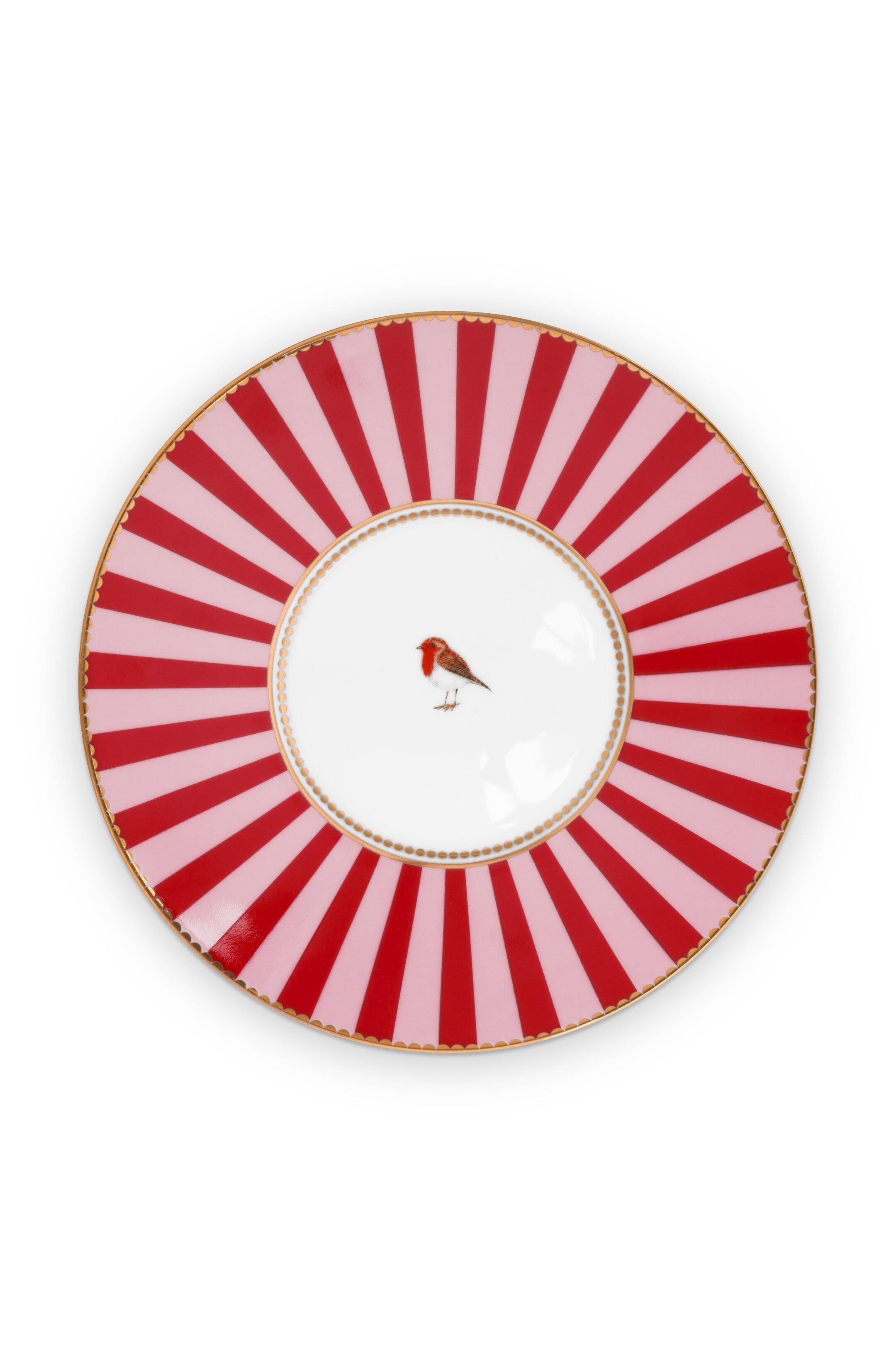 Pip Studio Love Birds Tasse & Untertasse Medaillon Red-Pink