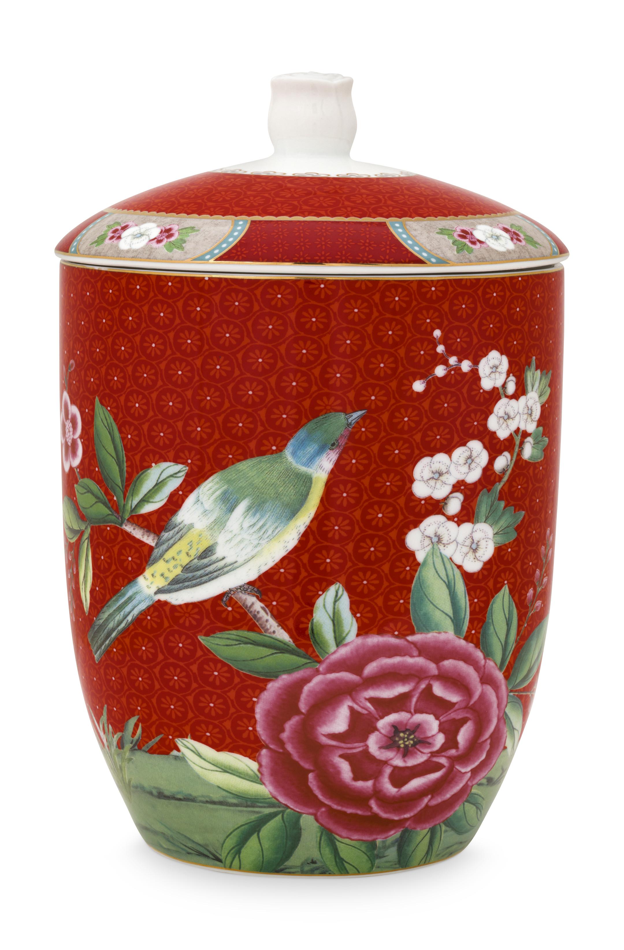 Pip Studio Blushing Birds Red Vorratsdose