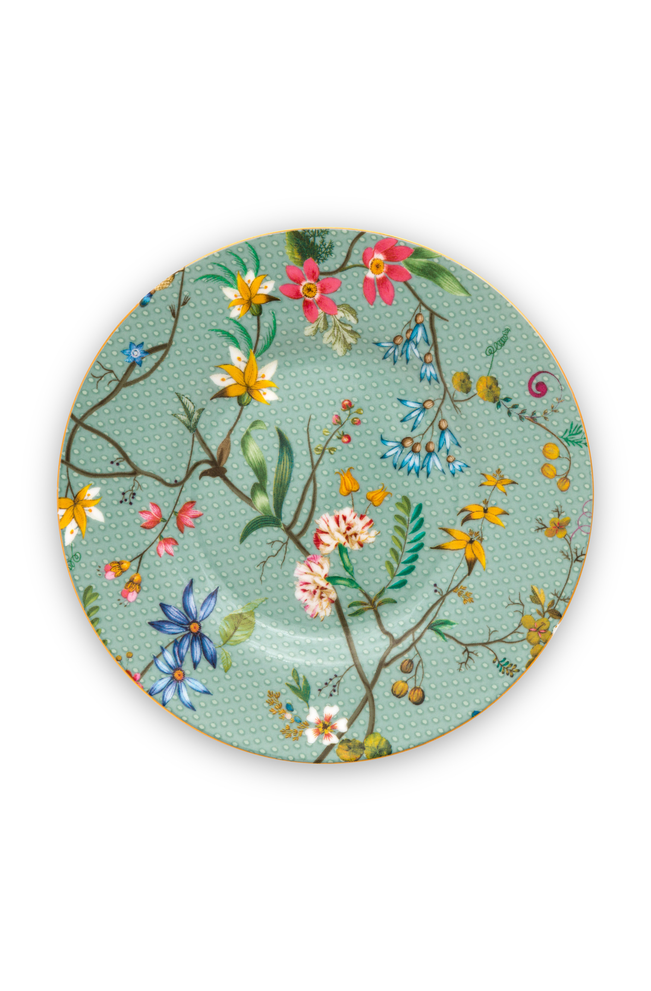 Pip Studio Jolie Gebäckteller Flowers Blue 12cm