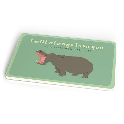 Frühstücksbrettchen - always love hippo