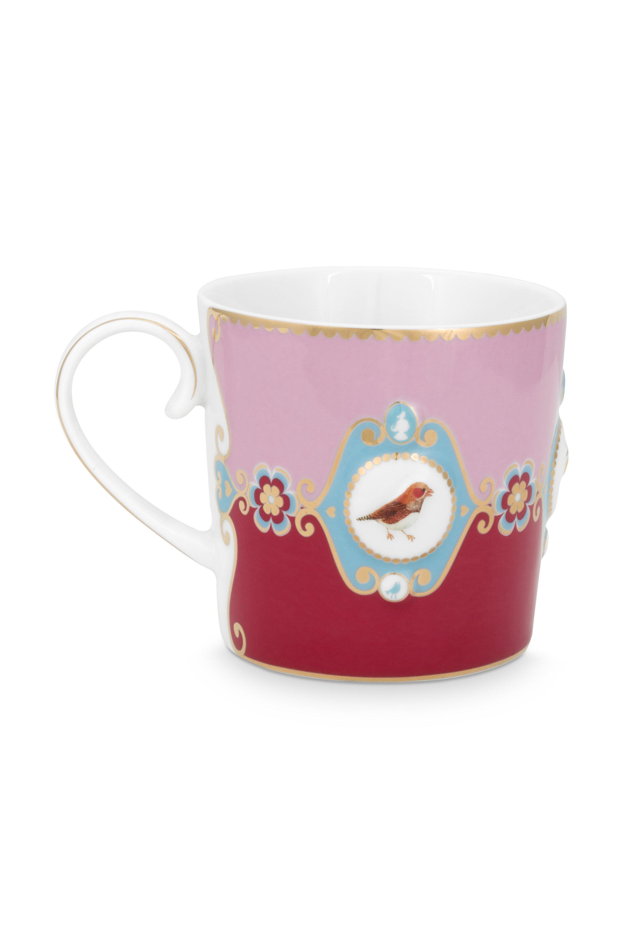 Pip Studio Love Birds Tasse Klein Medaillon Red-Pink