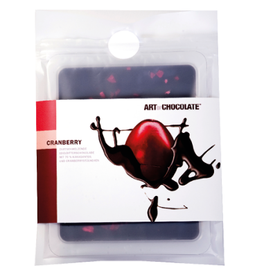 Cranberry 120g Tafel - Art of Chocolate