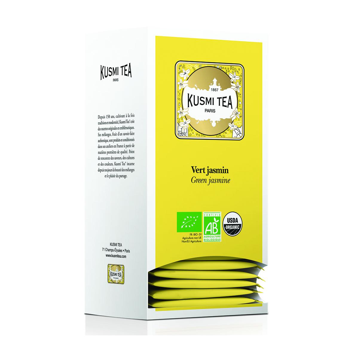 Grüner Tee Jasmin - Bio (25 Teebeutel, einzeln verpackt)